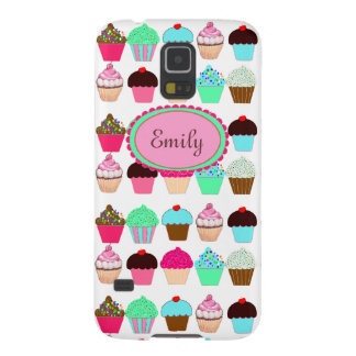 Colorful Cupcakes - Personalized Galaxy S5 Cover