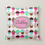 Colorful Cupcakes - Personalized Pillow
