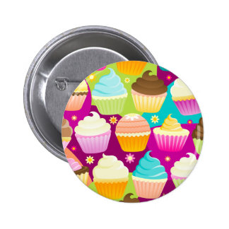 Colorful Cupcakes Pinback Button