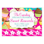Colorful Cupcakes Rewards Promo Large Business Cards (Pack Of 100)