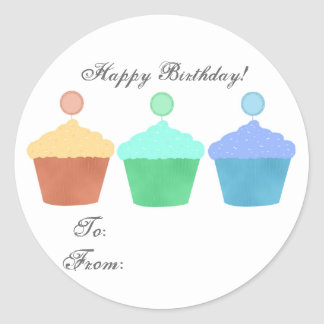 Colorful Cupcakes Stickers