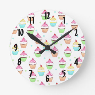 Colorful Cupcakes Wall Clock