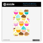 Colorful Cupcakes (White) iPod Touch 4G Skins