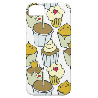 colorful cupcakes with hearts iPhone 5 cover