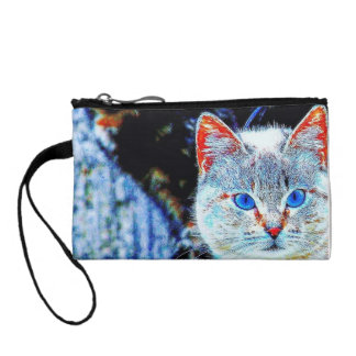 Colorful Curious Cats Key Coin Clutch