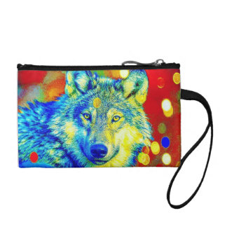 Colorful Curious Indeed Key Coin Clutch