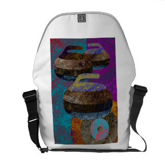 colorful curling art courier bag