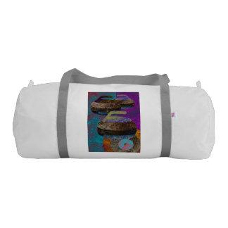 colorful curling art duffle bag