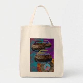 colorful curling art tote bag