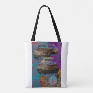 colorful curling tote bag