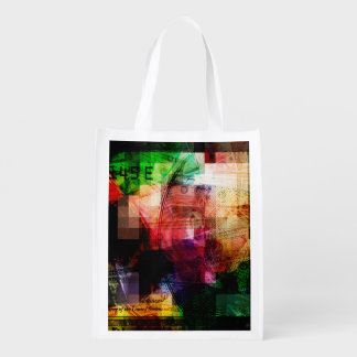 Colorful Currency Collage Grocery Bag