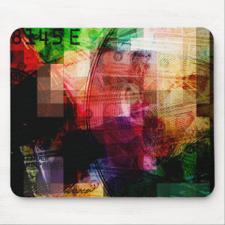 Colorful Currency Collage Mouse Pad