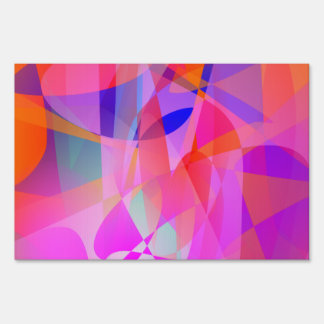 Colorful Curtain Art Yard Signs