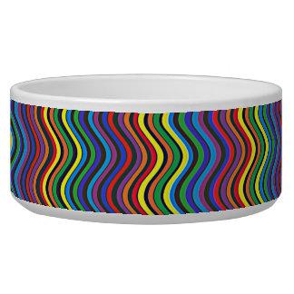 Colorful Curves Pet Bowl