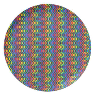 Colorful Curves Plate