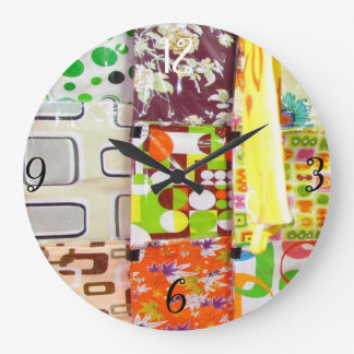 Colorful Cushion Covers Large Clock