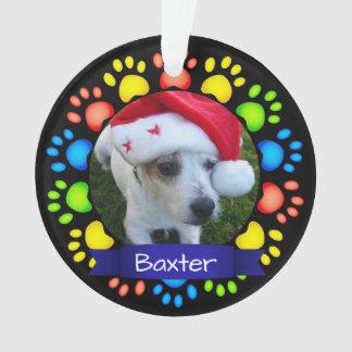 Colorful Custom Christmas Pet Photo Ornament