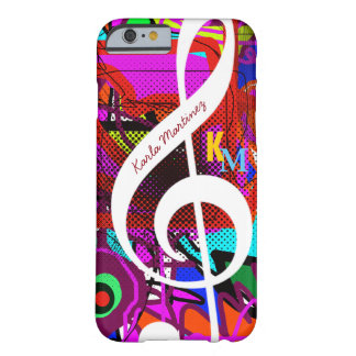 colorful & custom clave musical note barely there iPhone 6 case