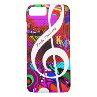 colorful & custom clave musical note iPhone 8/7 case