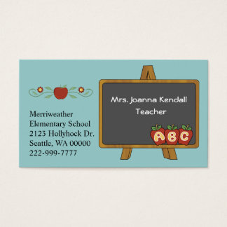 Colorful Custom Teacher's Business Card