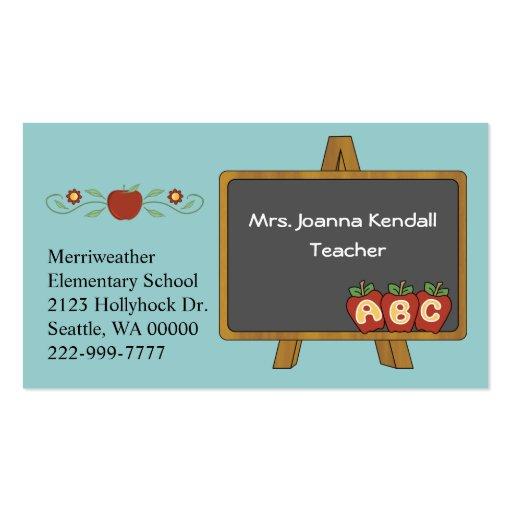 Colorful Custom Teacher's Business Card