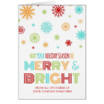 Colorful Customer Merry & Bright Christmas Card