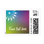 Colorful customizable postage