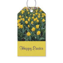 Colorful Customizable Yellow Tulips Gift Tags