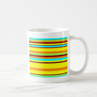 Colorful Customized Designer Stripe Pattern Coffee Mug