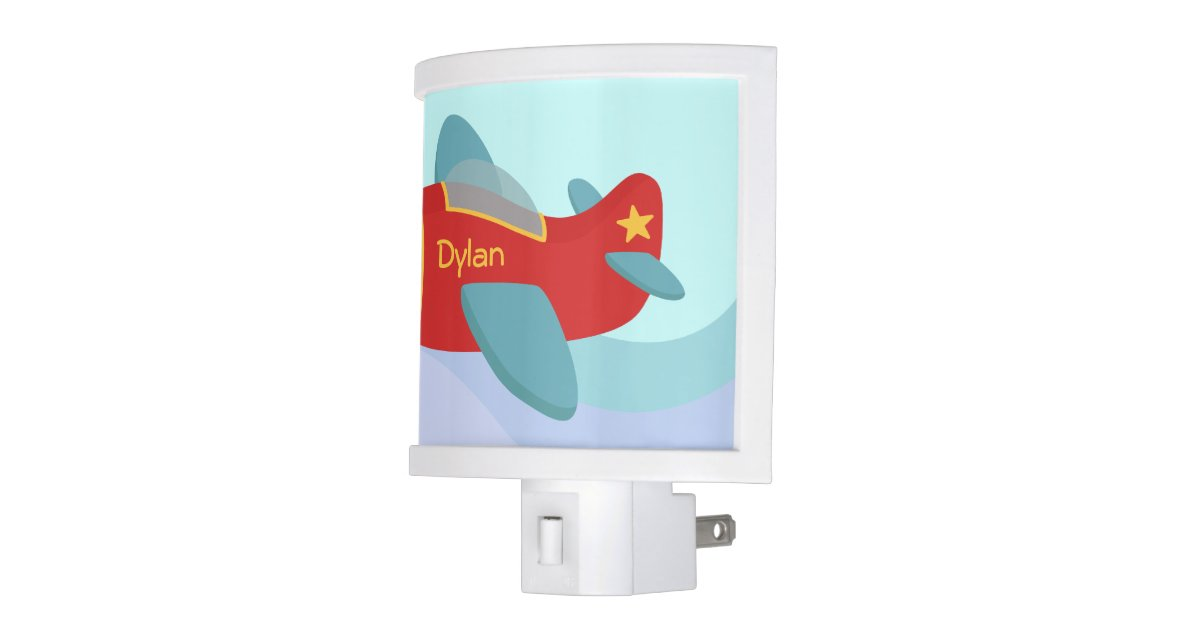 Colorful Cute Aeroplane For Boys Room Night Light Zazzle