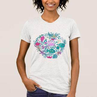 Colorful Cute Cartoon Sea-life Party Scene T Shirt