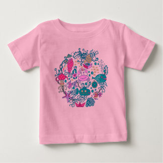 Colorful Cute Cartoon Sea-life Party Scene Tee Shirts