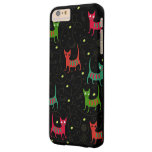 Colorful Cute Cats & Fish Bone Pattern Barely There iPhone 6 Plus Case