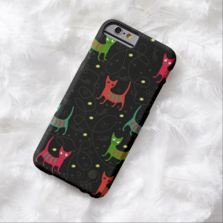Colorful Cute Cats & Fish Bone Pattern iPhone 6 ca Barely There iPhone 6 Case
