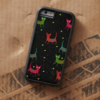 Colorful Cute Cats & Fish Bone Pattern Tough Xtreme iPhone 6 Case