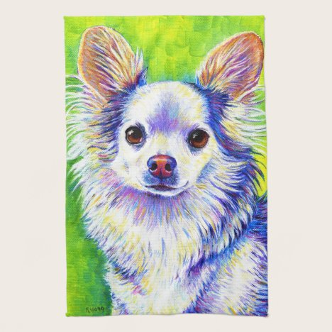 Colorful Cute Chihuahua Dog Kitchen Towels