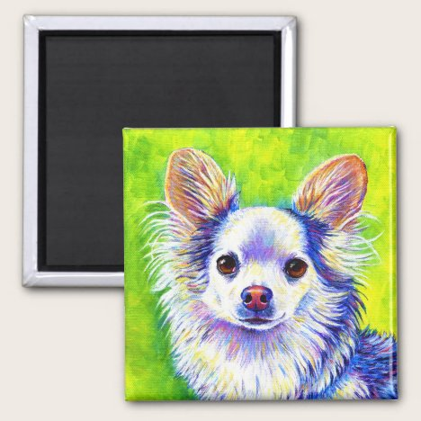 Colorful Cute Chihuahua Dog Magnet