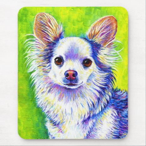Colorful Cute Chihuahua Dog Mouse pad