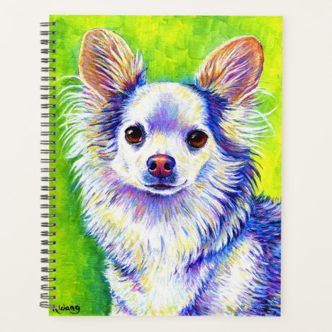 Colorful Cute Chihuahua Dog Planner