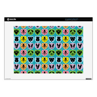Colorful Cute Dog Face Skins For Laptops