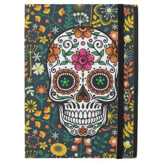 "Colorful Cute Floral Sugar Skull Illustration iPad Pro 12.9"" Case"