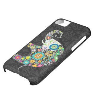 Colorful Cute Flower Elephant Illustration iPhone 5C Covers