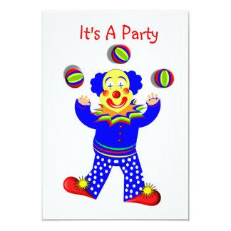 Colorful Cute Fun Circus Clown Juggling Announcements