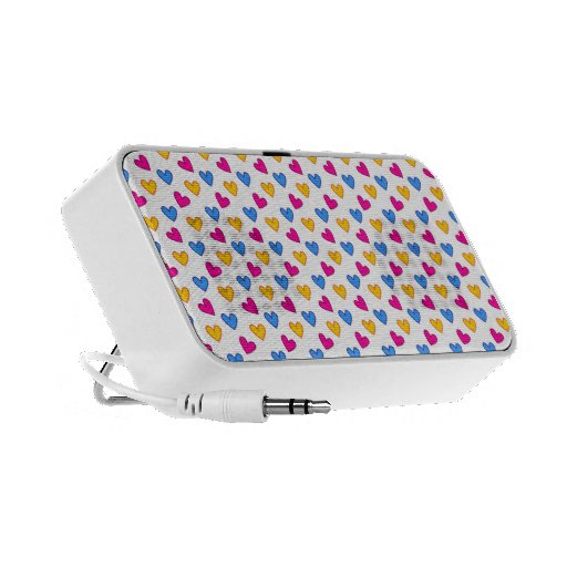 Colorful cute hearts portable speaker