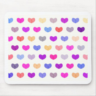 Colorful Cute Hearts XII Mouse Pad