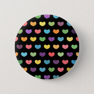 Colorful Cute Hearts XIII Pinback Button