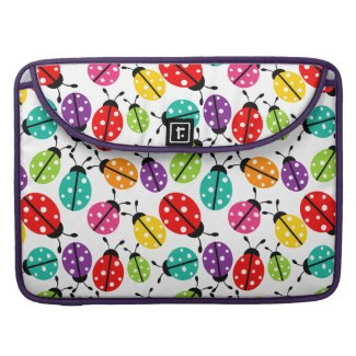 Colorful Cute Lady Bug Seamless Pattern Sleeves For MacBooks