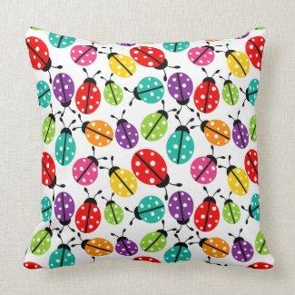 Colorful Cute Lady Bug Seamless Pattern