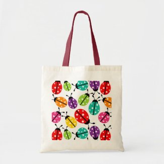 Colorful Cute Lady Bug Seamless Pattern