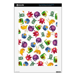 Colorful Cute Monsters Fun Cartoon Decal For PS3